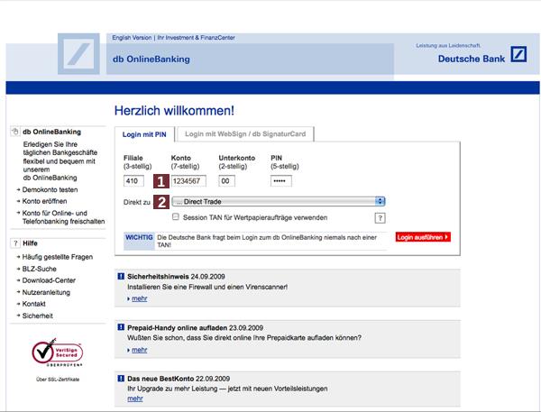 Wissen & Hilfe > Erste Schritte > Deutsche Bank Maxblue on